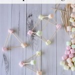 This Toothpick Triangles Activity is a fun and frugal way to teach kids about shapes, geometry, or letters. All you need is marshmallows and toothpicks!