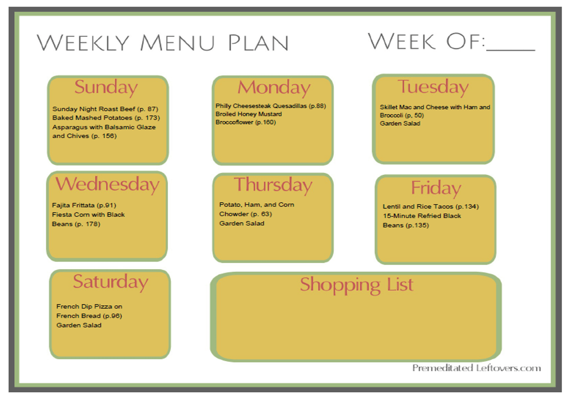 weekly-menu-plan-using-roast-and-ham