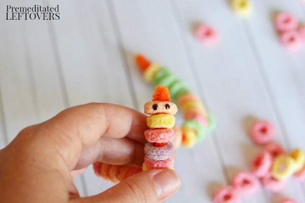 Worms In Dirt Edible Craft- use gel icing to add eyes