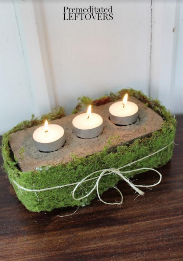 This Rustic Brick Centerpiece is a nice addition to your table in any season. The tutorial includes everything you need to make this frugal and easy craft.