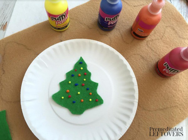 Felt Christmas Cookies- add lights with puff paint