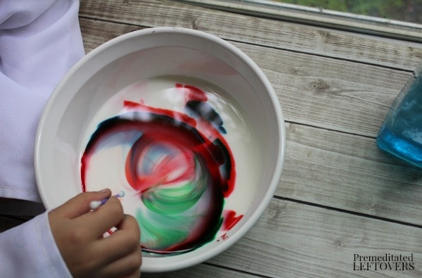 Exploding Colors Science Experiment- add dish soap