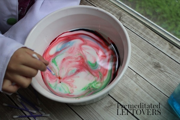 Exploding Colors Science Experiment- watch colorful bursts