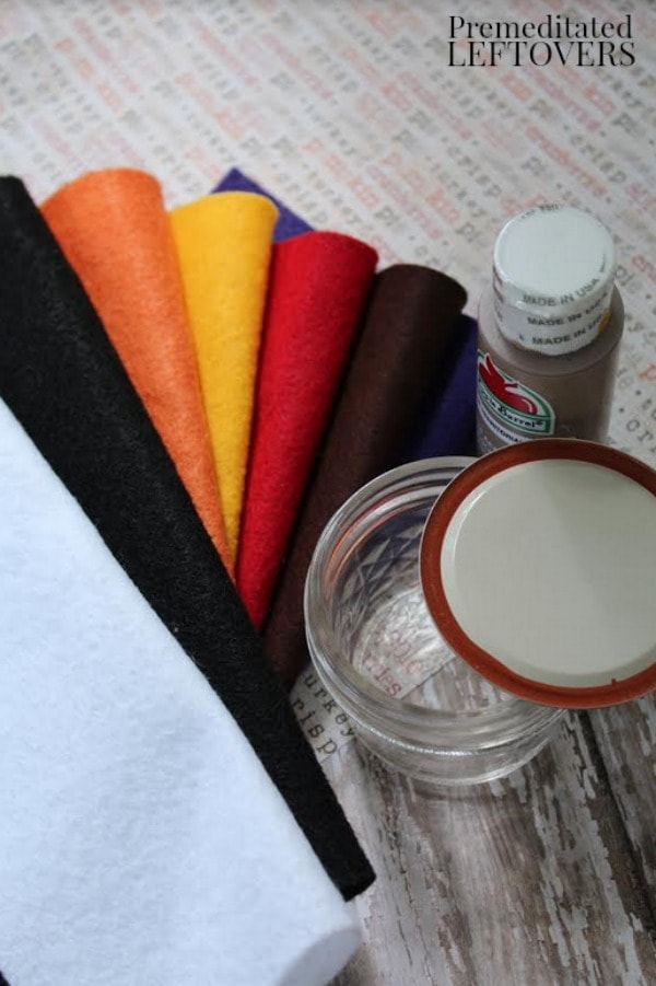 Mason Jar Turkey Craft- materials needed