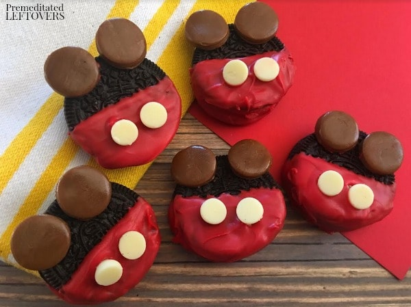 Disney fans will love these Mickey Mouse Chocolate Dipped Oreo Cookies. The recipe is fun yet easy to make for birthday parties or any Disney themed event.