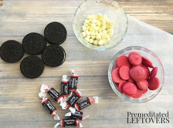Mickey Mouse Chocolate Dipped Oreo Cookies- ingredients