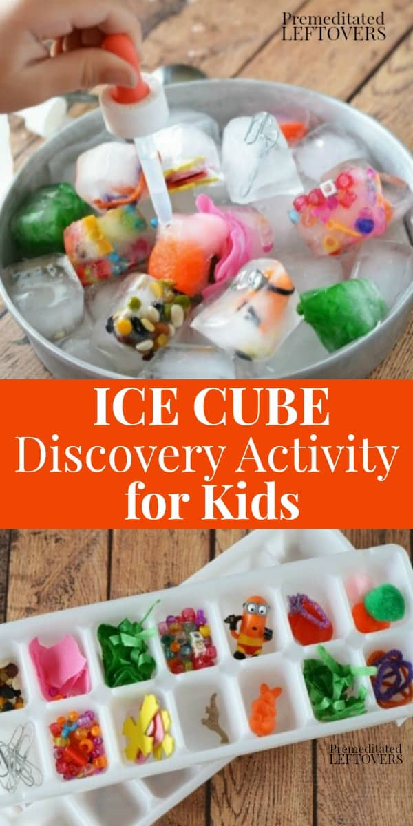 ice cube discovery activity for kids