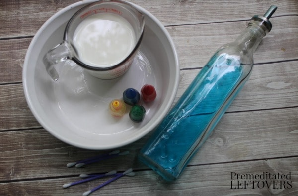 Exploding Colors Science Experiment- materials needed