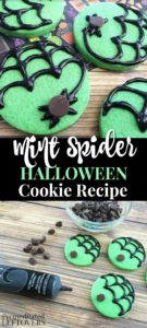 Mint spider Halloween cookie recipe
