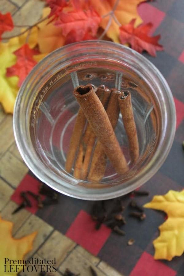 Stove Top Potpourri- add cinnamon sticks