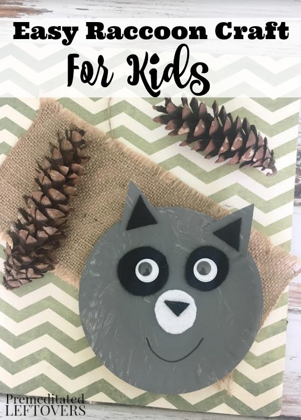 This Raccoon Paper Plate Craft features a fuzzy forest friend with fun googly eyes. It's a simple craft for kids and requires just a few low-cost materials.