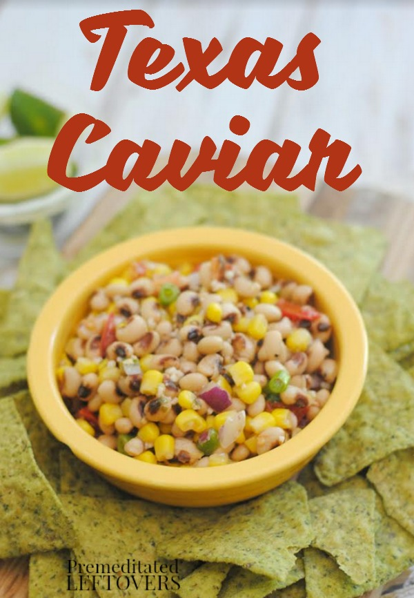 This Texas Caviar is an easy recipe to make for fall BBQs, get togethers, or a game day appetizer. Serve with tortilla chips for a delicious combination.
