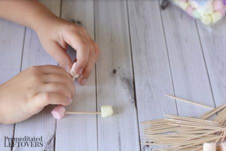 Toothpick Triangles Activity- stick marshmallows to toothpicks