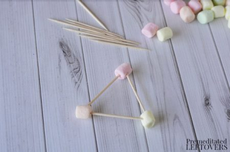 toothpick triangles activity- toothpick triangle