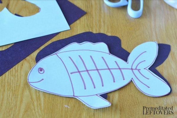 X-Ray Fish Craft for Kids- create fish design and cut