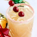 Apple Cider Sour with Meringue Rim