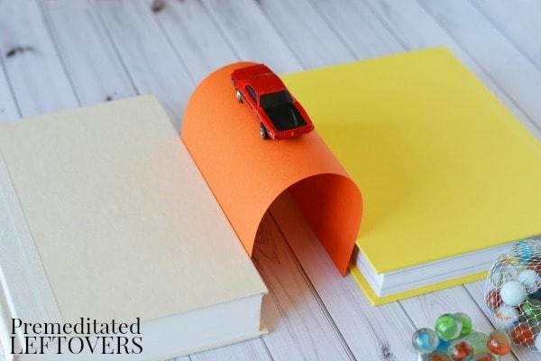 Building Bridges Activity- folded paper bridge