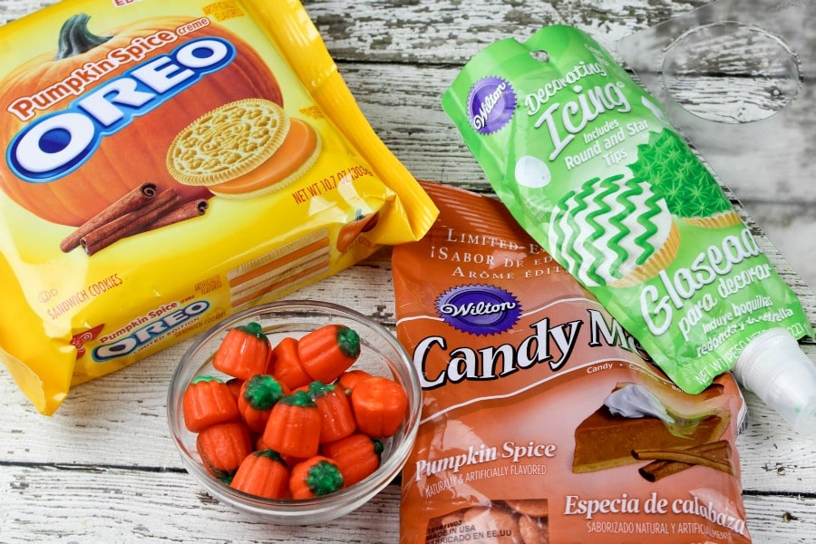 Chocolate Covered Pumpkin Spice Oreos- ingredients