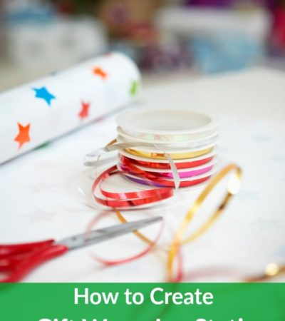 Save time and money by keeping your wrapping supplies organized and readily available. Learn how with these tips on How to Create a Gift Wrapping Station.