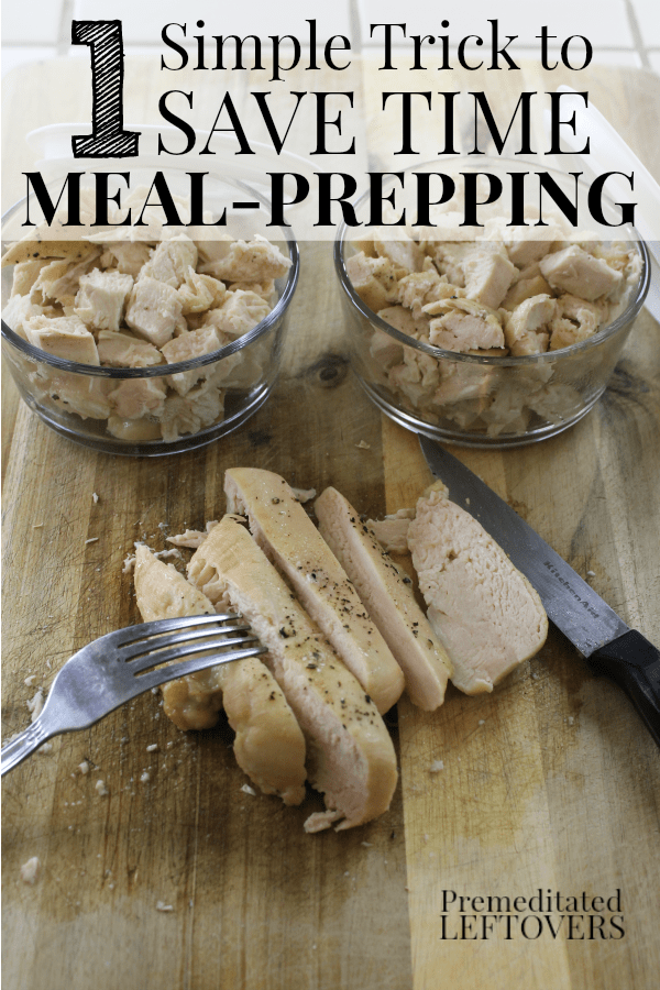 Use this Simple Trick to Save Time with Meal-Prepping. Batch Cooking all of your proteins for the week will save you time when prepping meals for the week.