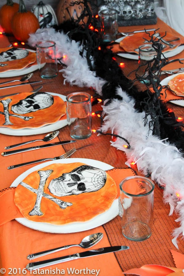 Check out this Orange and Black Skeleton Halloween Tablescape! You can create this amazing setting yourself with our decorative tips and inspiration.