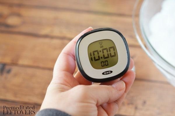 Making Slush Science Activity- set timer