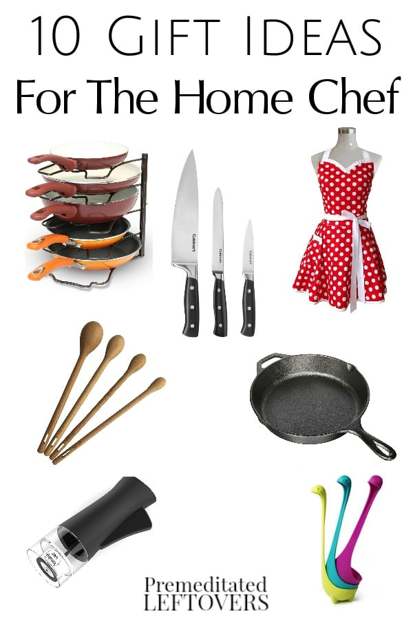 Check out these 10 Gift Ideas For Home Chefs! This list is full of fun and useful items to appeal to the chef in training or the home cook