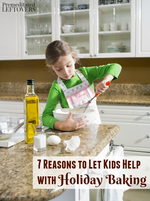 Don't shoo your kids away from the kitchen! Instead, make the most of this special time together with these 7 Reasons to Let Kids Help with Holiday Baking.
