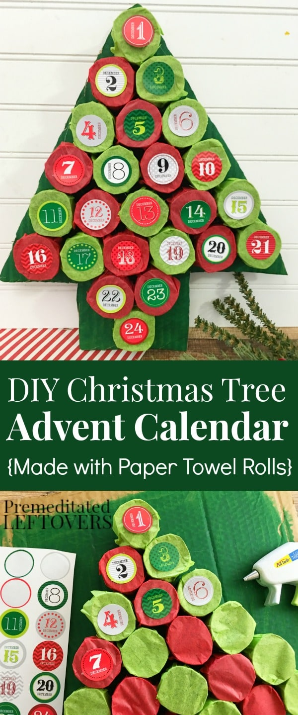Self Made Christmas Calendar : Diy christmas tree advent calendar tutorial using paper