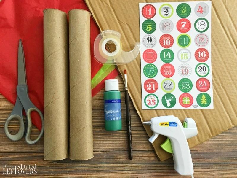 Christmas Tree Advent Calendar- materials