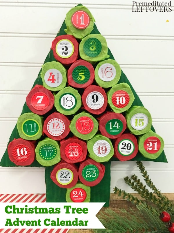 I saved our leftover toilet paper tubes and created a super fun Advent Calendar for my littles! It was so easy to do and the best part is that you already have the toilet paper rolls so that project material is free!
