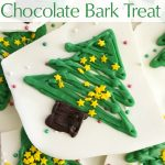 Christmas Tree White Chocolate Bark