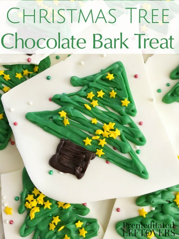 Make this Christmas Tree White Chocolate Bark for your friends and family this holiday season! It's a festive candy bark recipe using white chocolate.