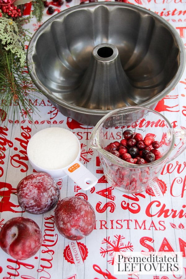Cranberry and Sugar Plum Ice Ring- ingredients