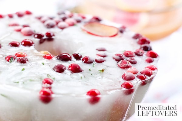 Cranberry and Sugar Plum Ice Ring- frozen ice ring