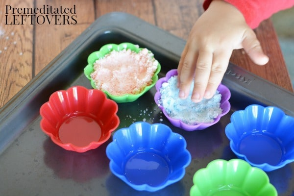 DIY Bath Fizzies for Kids- press into molds