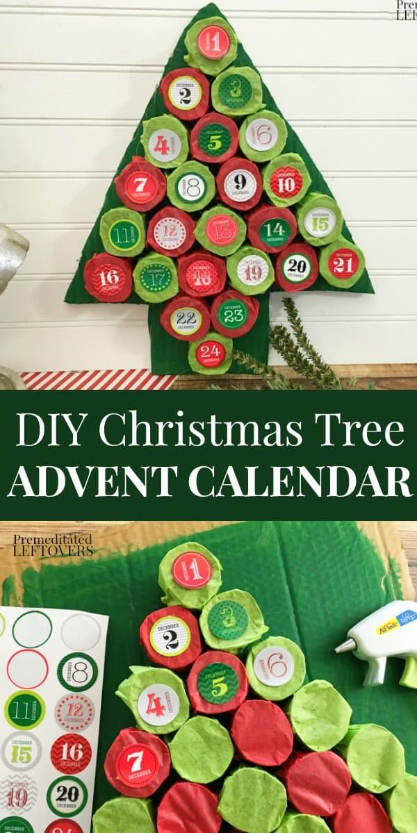 Christmas Calendar Self Made : Diy christmas tree advent calendar tutorial using paper