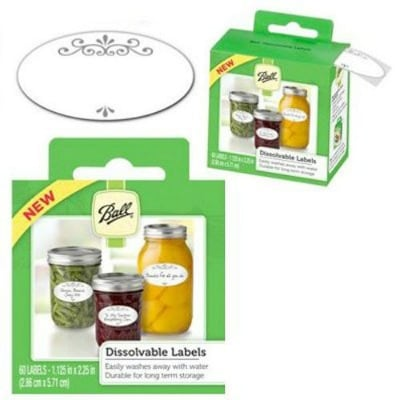 8 Must- Have Canning Supplies- Dissolvable Canning Labels