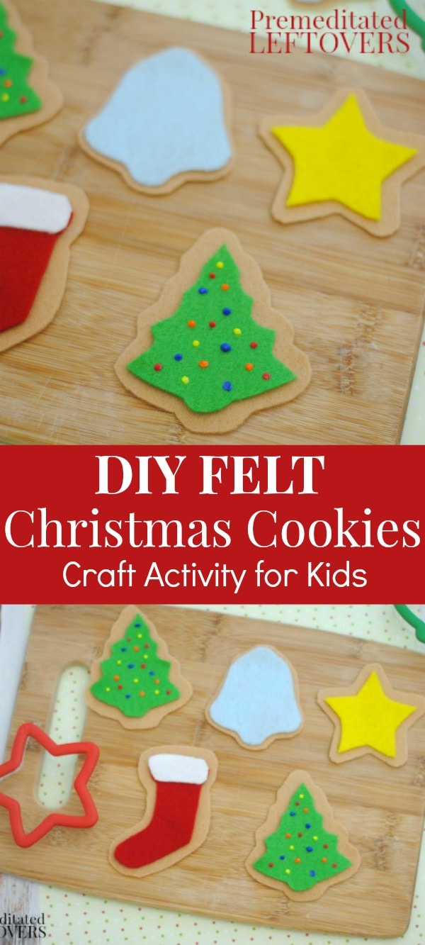Felt christmas cookies craft for kids tutorial for Easy christmas felt crafts