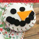 Foam Snowman Craft
