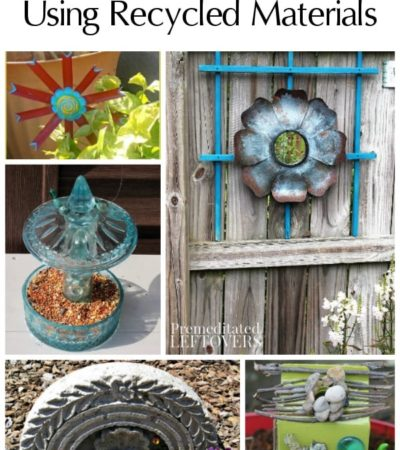 Add life to your garden with these Garden Art Ideas Using Recycled Materials. You will find tutorials for planters, bird feeders, fairy gardens, and more!
