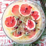 Grapefruit and Pomegranate Punch with Rosemary