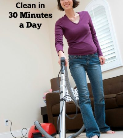 How do you keep your home clean if you don't like to clean? It's easy when you follow these tips on How to Keep Your Home Clean in 30 Minutes a Day.