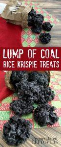 Lump Of Coal Rice Krispie Treats Recipe - Fun Snack recipe for the holidays!