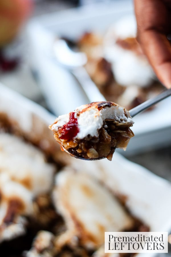 Put a new twist on traditional apple crisp with this Pear, Apple, and Cranberry Crisp with Marshmallow recipe. It's a delicious holiday dessert!