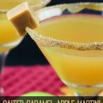 This Salted Caramel Apple Martini is a delicious cocktail for the fall and winter! It is easy to make and looks amazing when served!