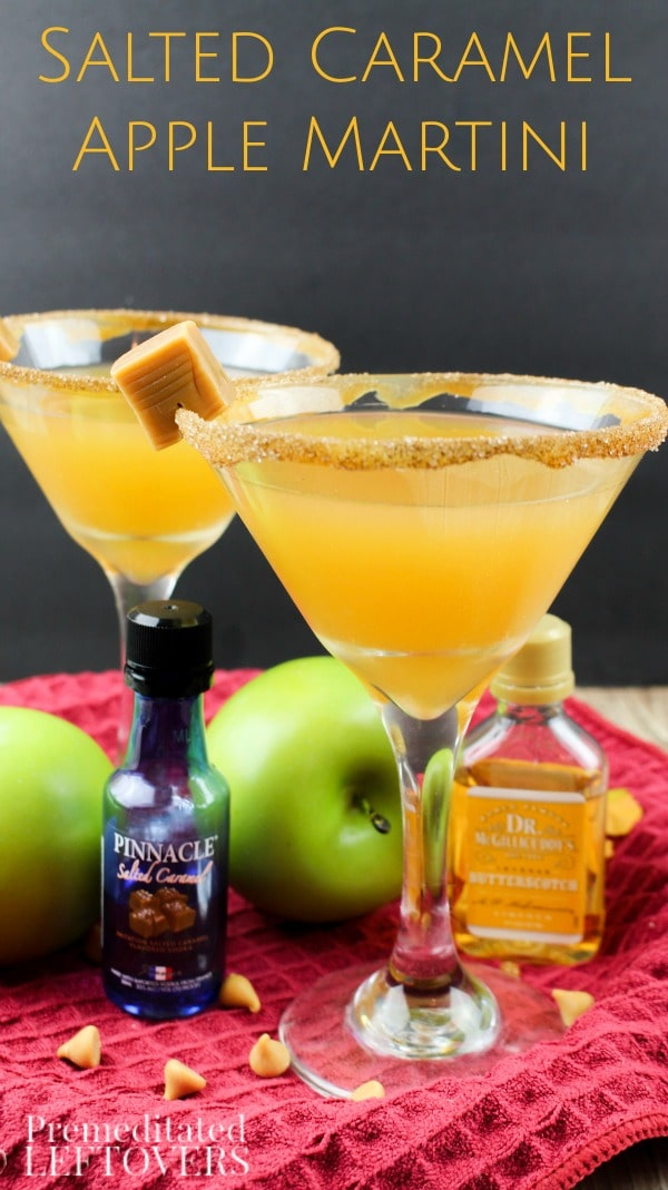 Make our Salted Caramel Apple Martini as a delicious adult drink for your friends and family during the fall and winter! This cocktail is so easy to make!