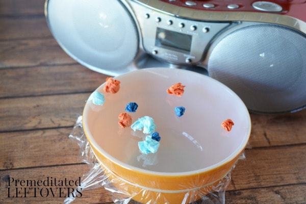 This Sound and Volume Vibrations Science Experiment can be done while enjoying a variety of music! It's fun and easy learning activity for kids of all ages.