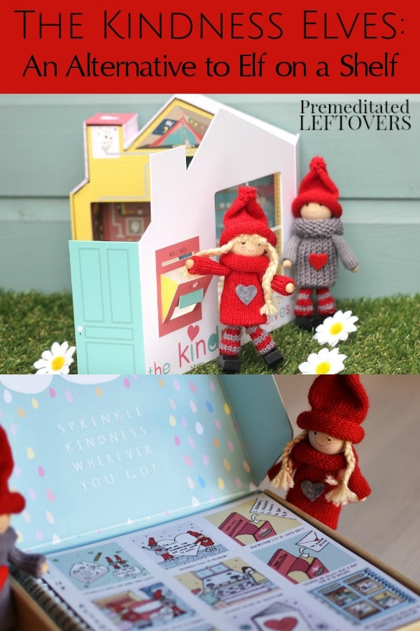 The Kindness Elves are a wonderful alternative for parents who do not want to do Elf on a Shelf with their kids.