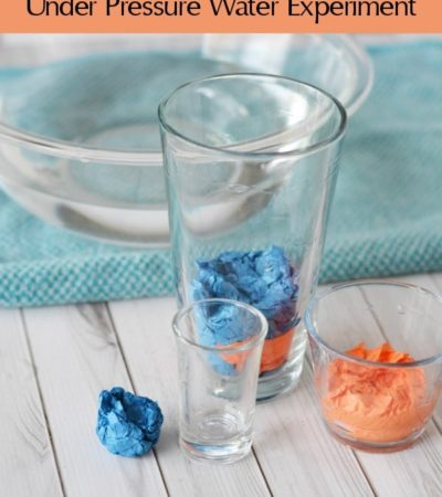Kids will enjoy learning with this Under Pressure Water Science Experiment. It's easy to do and fun to see dry tissue paper removed from a bowl of water!